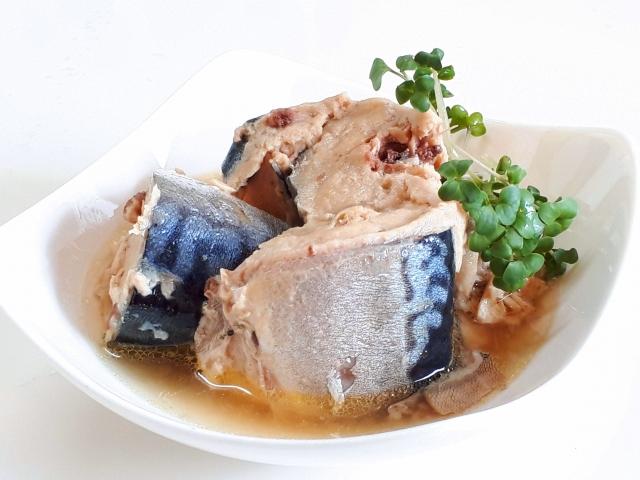 鯖缶の水煮