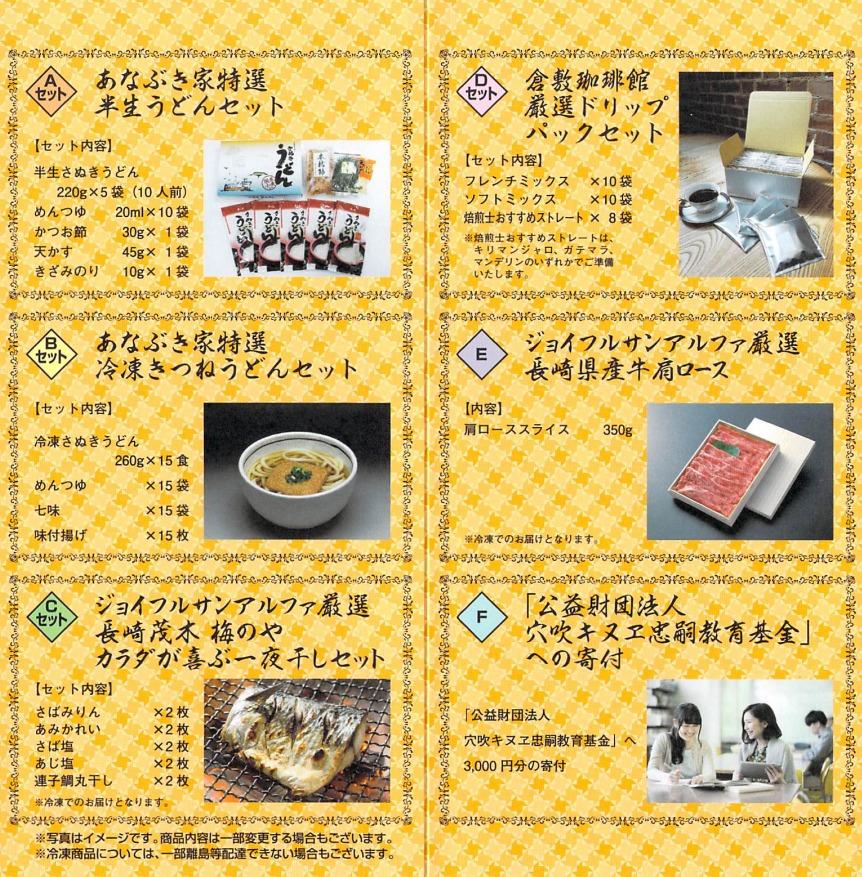 穴吹興産(8928)の優待カタログ