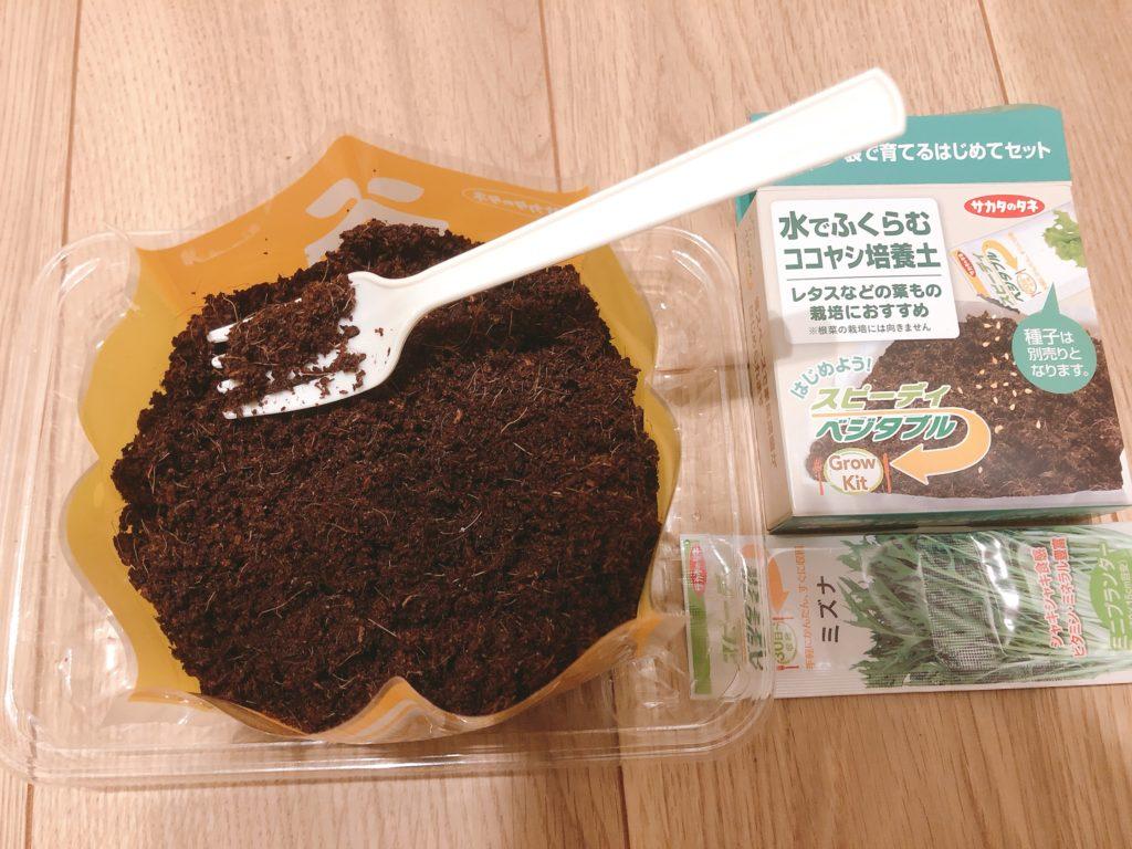 栽培キットに種を植える