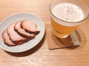 焼豚とビール