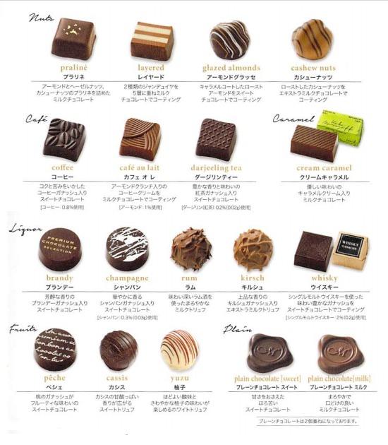 モロゾフのチョコの商品紹介